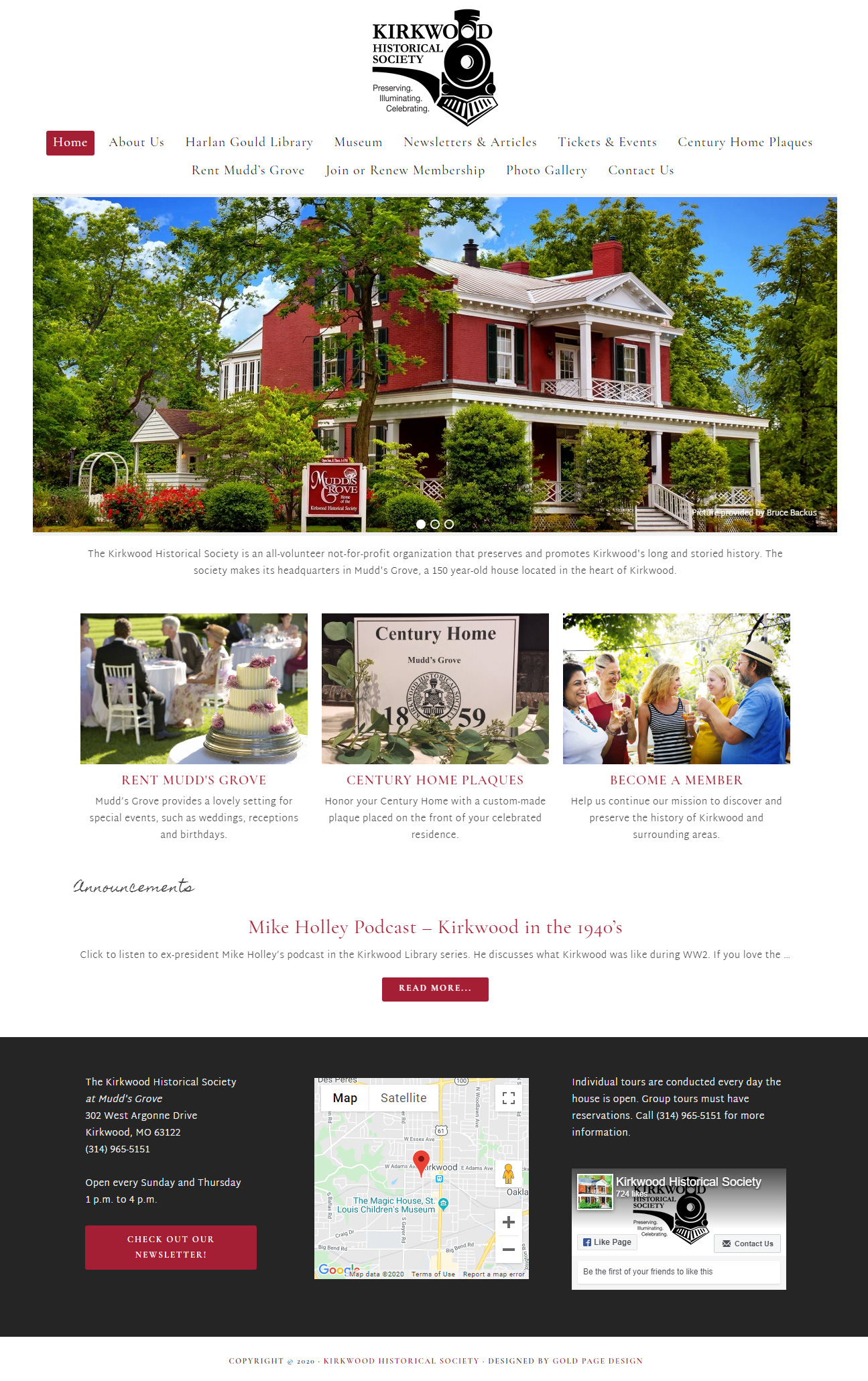 Kirkwood Historical Society Home page
